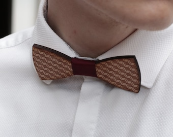 Bow tie wood geometric