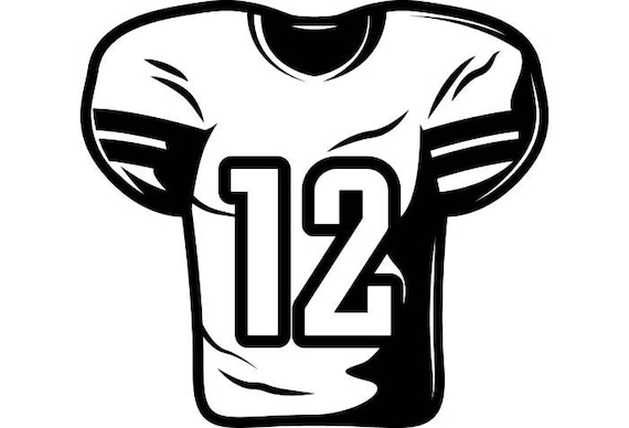 football jersey 1 equipment sports stadium field school team rh etsy com football jersey clipart free football jersey clipart black and white