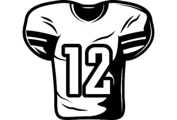 football jersey 1 equipment sports stadium field school team rh etsy com football uniform clipart football jersey clipart images