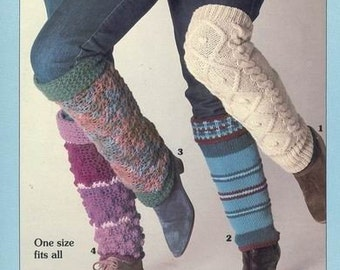 PDF Vintage Crochet Pattern For Leg Warmers