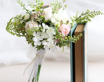Bridal Bouquet / Bridesmaid Bouquet / Garden Rose Peony // Wedding Flowers / Silk Flower Bouquet / Toss Bouquet / Flower Girl