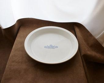 Vintage Corning Ware Cornflower Blue Quiche Pie Plate Retro Kitchen, 9 Inch Pie Plate P309