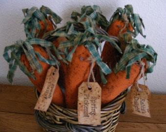 Rag Top Carrots - Made to Order - Bowl Fillers - Home Decor