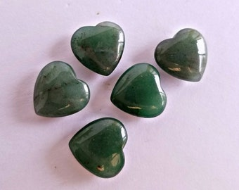 Carved Aventurine Crystal Heart
