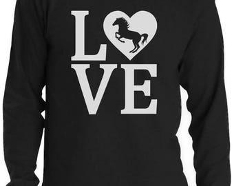 Love Horses Gift For Horse Lover Long Sleeve T-Shirt