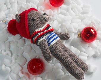 Hans handcrocheted - cuddly bear - bear Teddy bear