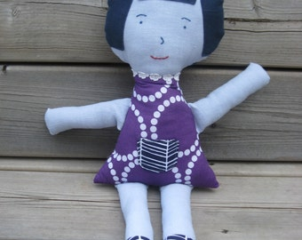 Blue Girl - Soft Fabric Doll