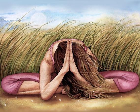 yoga art set of 5