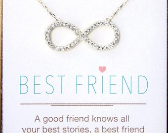 Infinity Necklace Gift For Bestfriend Gift for Her Best Friend Gift Bestfriend Necklace Friendship Necklace Silver Pendant Necklace N303S-13