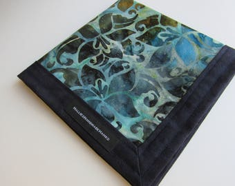 Every Day Carry Hank Blue Batik Handmade Hank EDC Hank Everyday Carry Pocket Dump Hank Mens Handkerchief Gift for Him Father's Day Gift