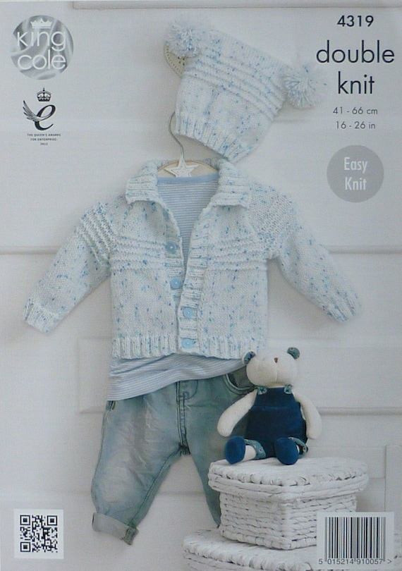 Baby Knitting Pattern K4319 Baby\'s Easy Knit Long Sleeve Collared ...