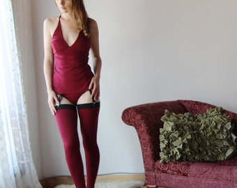 stretch wool camisole with triangle cups - HEARTH - made to order