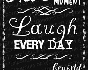 """Printable Poster """"Live Laugh Love"""" - 50x70 cm - Digital Poster, Quotes, Wall decor, Artwork, Positive Thoughts, Motivational Poster"""