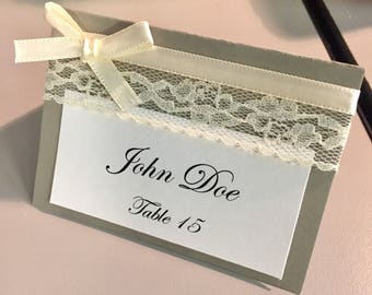 Lace Place Cards