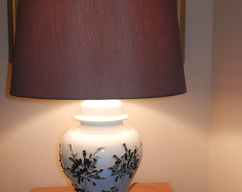 Brown Fabric Covered Lamp Shade - Shade ONLY