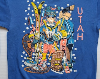 Vintage Utah Winter Sportsman Sweater