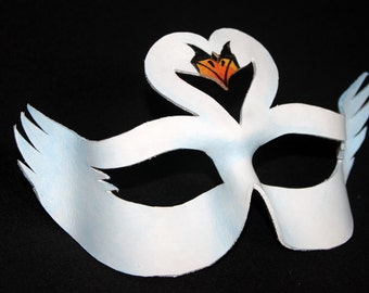 Leather Swan Mask