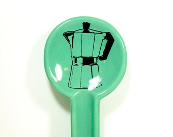 spoon rest with a moka pot - Made to Order / Pick Your Colour