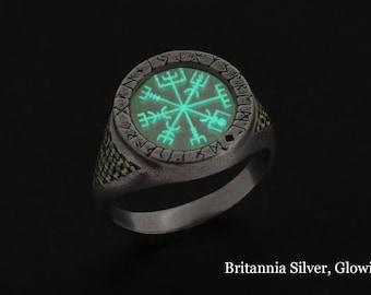 Odin Ring, Viking Rune Ring, Vegvisir, viking ring, viking jewelry, vegvisir ring, vegvisir talisman, norse ring, viking wedding ring, runes