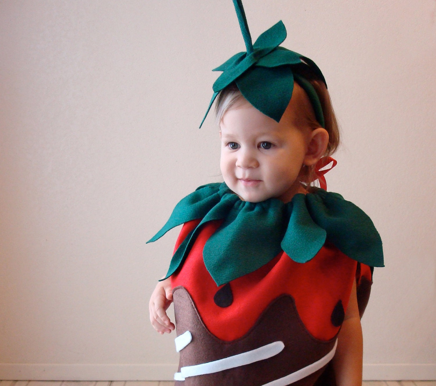 ?Ampliar  sc 1 st  Etsy & Baby Halloween Costume Chocolate Dipped Strawberry Berry Candy