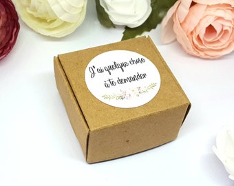 Request maid of honor wedding gift / box request Sweetchicaccessoires/door key mirror matching badge / button flower witness