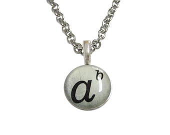 Mathematical A to the Power of B Pendant Necklace