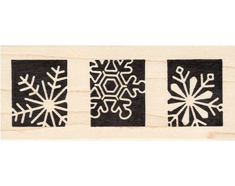 Snowflake Blocks 1281K Beeswax Rubber Stamps Unmounted, Cling, Mounted  Stamp Scenic, Landscape Stamping