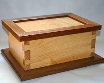 Teak jewelry box Etsy
