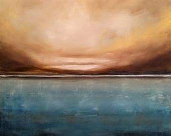 Landscape Painting, Oil Painting, Scottish Loch, Rustic Wall Decor, Large Painting, Kitchen Wall Decor, Living Room, Scotland,