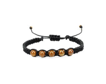 Tiger Iron Bracelet, Gemstone Bracelet, Friendship Bracelet, Yoga Bracelet, Chakra Bracelet, Gift for Him, Meditation Bracelet, Tigers Eye