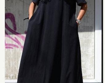 Loose cotton dress, dress summer kaftan, oversize top dress, maternity dress, bohemian dress, kaftan, long caftan dress, long holiday dress