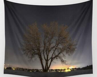 Night Sky Tapestry, Tree tapestry, nature tapestry, Tree wall hanging, nature wall hanging, sunset tapestry