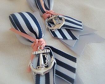 Nautical Boutonniere,Wedding Boutonniere, Ship's Wheel Boutonniere, Anchor Boutonniere, Nautical Wedding, Beach Wedding, Beach Boutonniere