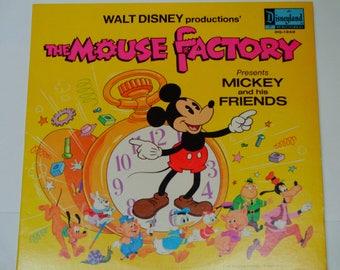 Die Maus-Fabrik - Walt Disney präsentiert Mickey und seine Freunde - Donald Duck - Disneyland Records 1972 Vintage Kinder Vinyl Record Album