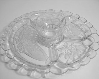 Indiana Glass Divided Five Part Relish - Vegetable Tray