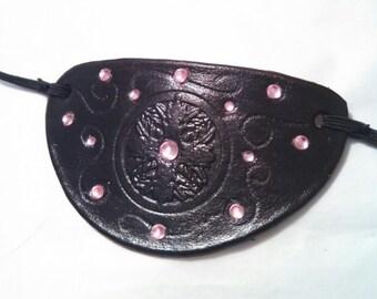 Black Leather Feminine Eyepatch