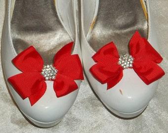 Shoe Clips, Girls, Teens, Prom, Dance, Shoe Clips for Shoes, grosgrain ribbon, Shoe Clip, Red, Black, Navy, White, Yellow, Blue, ShoeClips