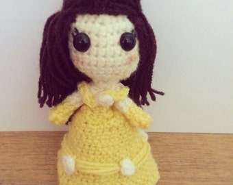 Princess Belle (Beauty & the Beast) Amigurumi/crochet. Disney plushie. [MADE TO ORDER]