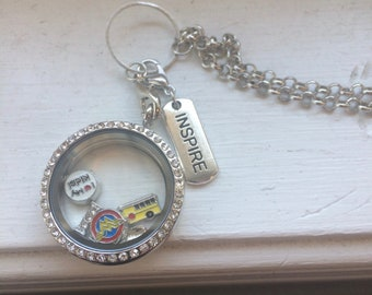 teacher memory Locket, Teacher inspired locket, teacher end of year gift