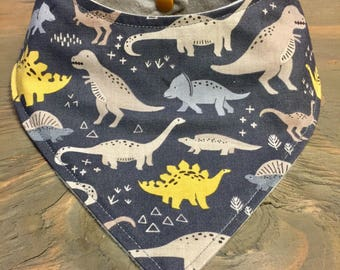 Customizable Cool 2 Drool Bib, Baby Bandana Bib, Stylish Fashion Bibdana, Dinosaur Bib, Fossils, Prehistoric, Dino Bib