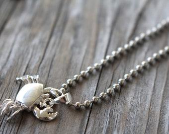 Crab Charm Bracelet Silver