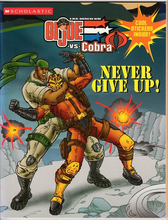 G.I. Joe Vs Cobra Sticker Book Never Give Up Coloring Book Puzzles ...