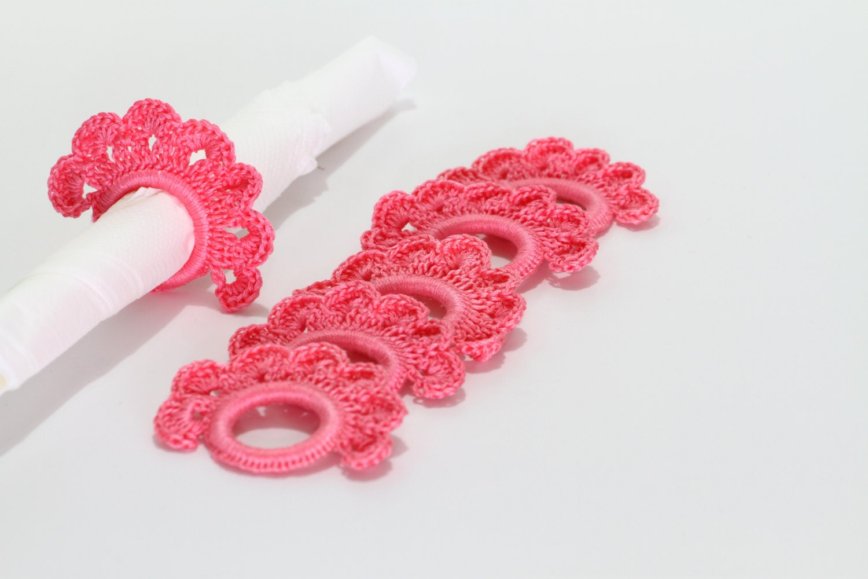 Crochet Napkin Rings Instant Download PDF Pattern