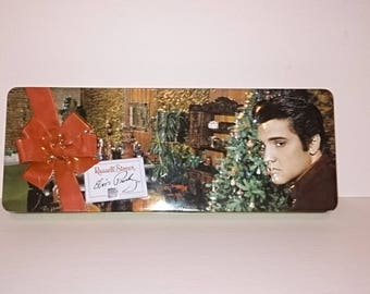 Elvis Presley Russell Stover Happy Holidays Christmas Tree Empty Tin