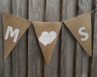 Custom Bunting Initials Banner Custom Banner Personalized Banner Initials Bunting Wedding Banner Burlap Wedding Decor Wedding Garland