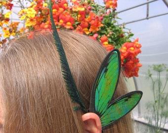 Mens Boys Unisex Ear Wings Black St. Patrick's Green Glitz