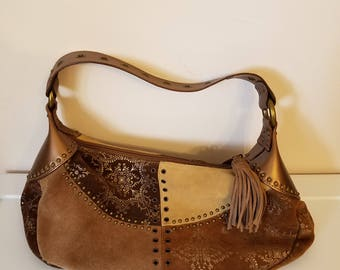 Fossil Suede Hobo Purse
