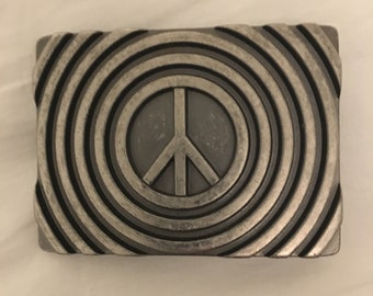 1970's Concentric Circles Psychedelic Belt Buckle