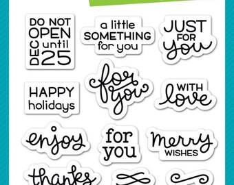 """New Lawn Fawn Clear Stamps - Tiny Tag Sayings - 3""""x4"""" - Small Tags/Gift Tags/Party Invite/Tag Sayings"""