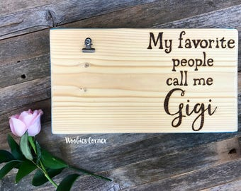 Gigi gifts, Gifts for Gigi, Grandma gift, Mothers Day gift, Custom photo frame, Personalized picture frame, Wood picture holder, Photo frame